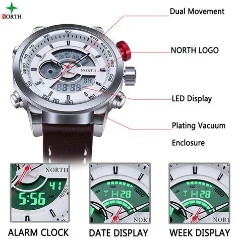 jam tangan analog digital kulit 6015 white