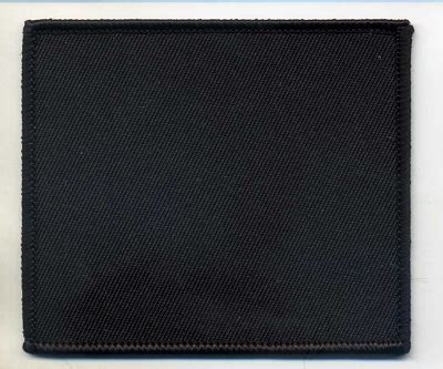 Black Patches blank patch 3x3 5 black background with black border heat seal