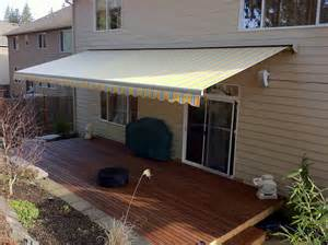 retractable deck awnings retractable deck awnings rainier shade