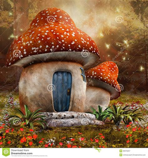 Fairytale Cottage House Plans by Fantasy Mushroom Cottage Stock Illustration Image Of