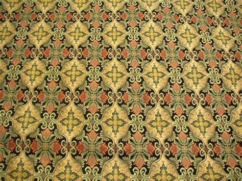 renaissance cross upholstery fabric black