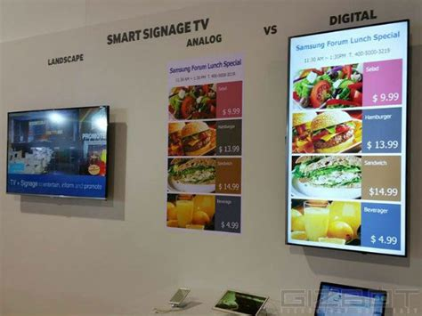 Tv Digital Signage samsung smart signage tv launched in samsung forum 2015 event gizbot news
