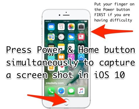 how to take screen in ios 11 and ios 10