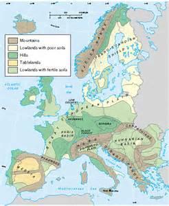 map of landforms map europe landforms