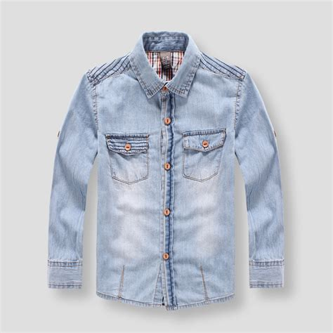 Boy Denim Shirt new arrival 2015 autumn brand denim shirts 2 7 years