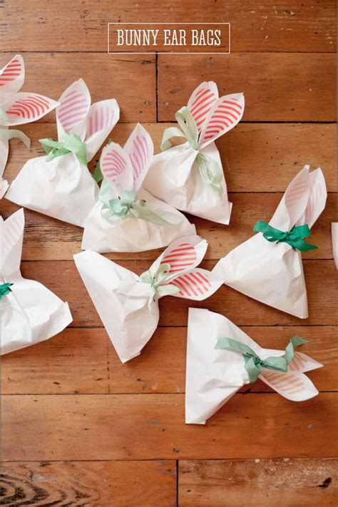 easter present ideas bunny ear bags diy