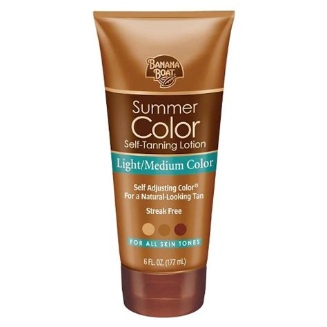 good tanning bed lotion banana boat summer color self tanning lotion light