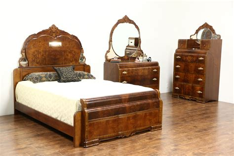 sold art deco 1935 waterfall full size 3 pc bedroom set sold art deco waterfall design 1935 vintage 3 pc