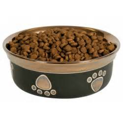 fashion pet ritz copper rim dog dish black dog bowls