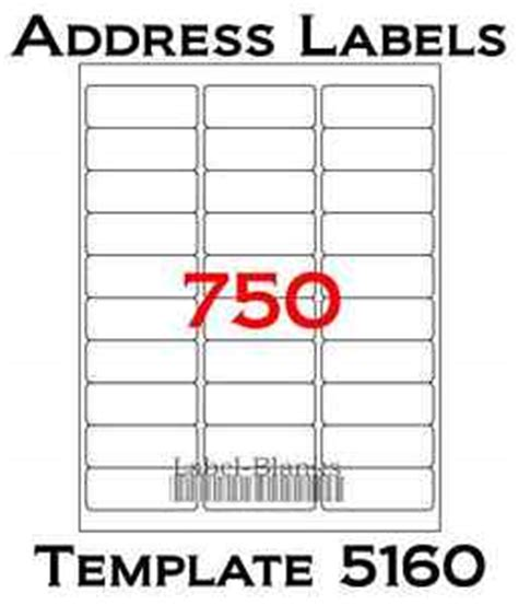 avery label template 5260 750 laser ink jet labels 30up address compatible to template 5160 25 sheets ebay