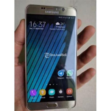 Merk Hp Samsung Warna Gold samsung galaxy note 5 duos bekas warna gold garansi resmi