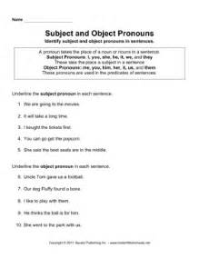 subject object pronouns instant worksheets
