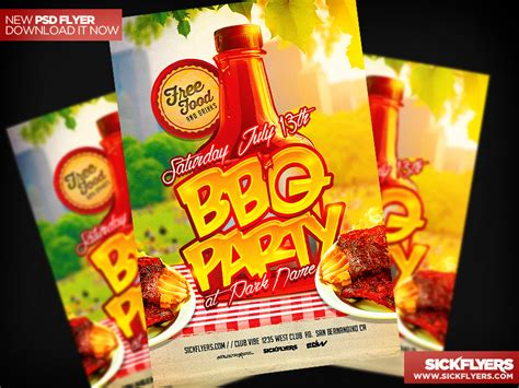 cookout flyer template bbq flyer template psd by industrykidz dribbble