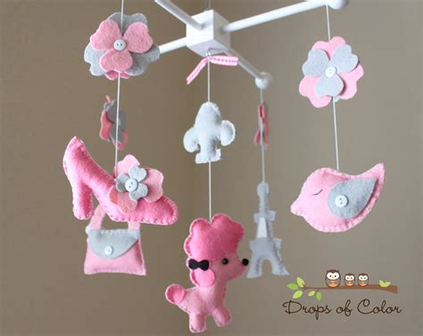 Baby Crib Mobile Baby Mobile Nursery Paris French Decor Mobiles For Baby Cribs