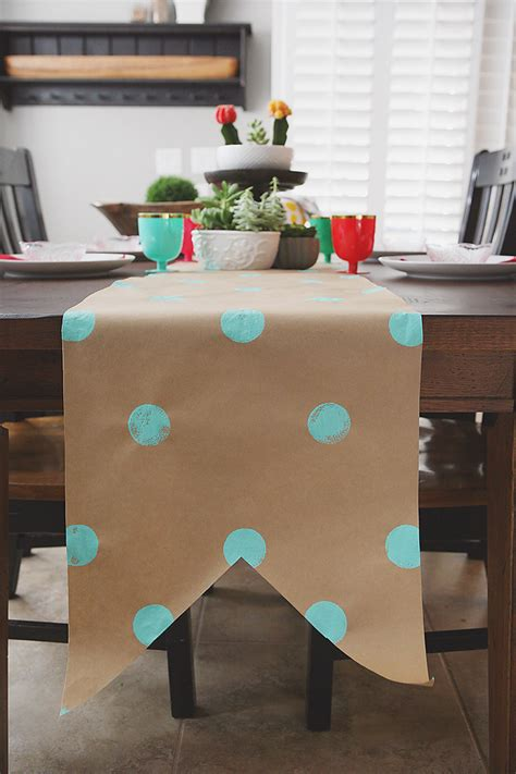 Craft Paper Table Runner - kraft paper table runner hairstyles