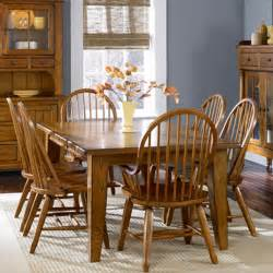 Oak Dining Room Table Sets Oak Treasures Dining Room 7 Set Oak Table With 4 Oak Side Chairs 2 Oak Arm Chairs