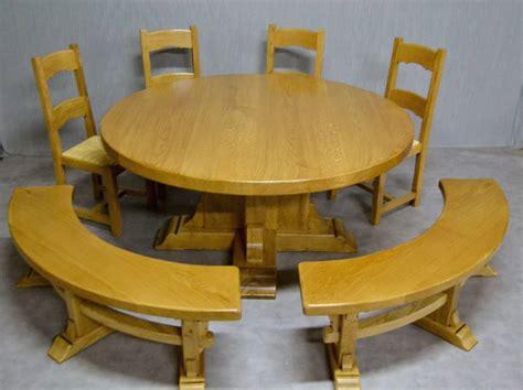 table ronde chene tables de ferme et ronde meubles rustiques en bois massif