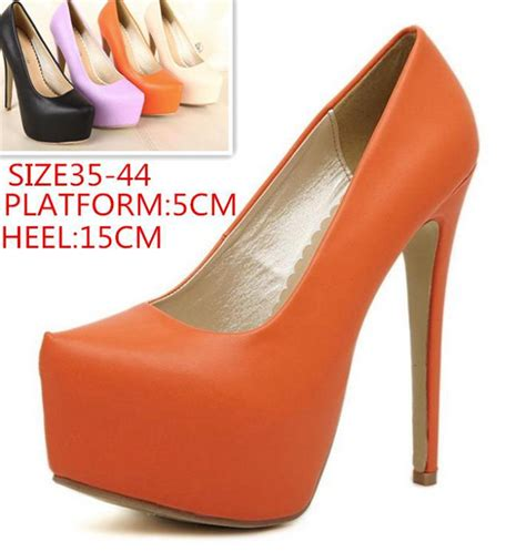 Heels Treasure 35 39 16cm wholesale big size 35 44 new s autumn shoes 16cm single shoes platform thin heels ultra