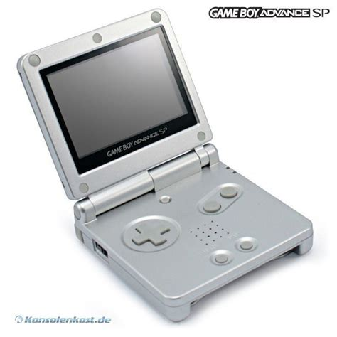 gameboy advance sp console gameboy advance console gba sp silver incl power