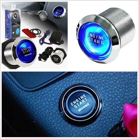Ford Push Button Start Kit Ignition Engine Switch Ebay 12v Blue Led Car Engine Start Push Button Switch Ignition Starter Kits For Mazda Ebay