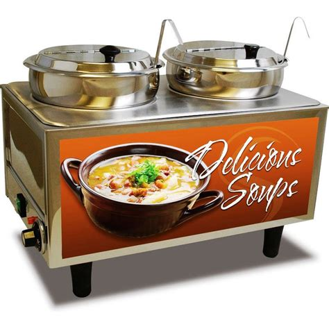 Soup Countertops Dual Well Countertop Soup Station Food Warmer Commercial