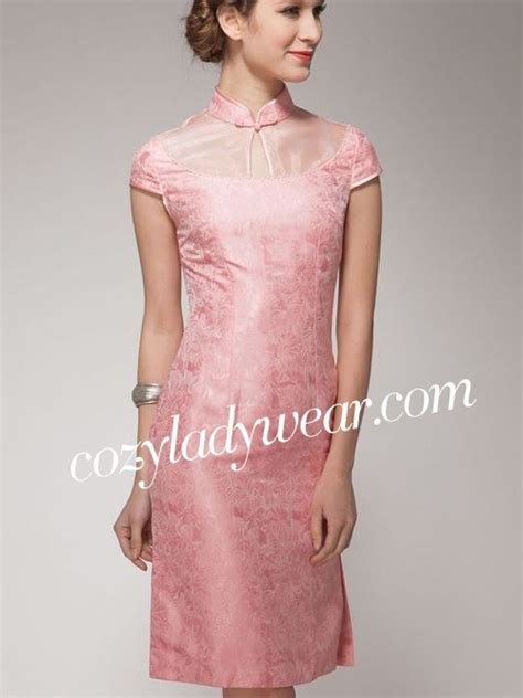 Dress Cheongsam Pink pink silk qipao cheongsam dress cozyladywear