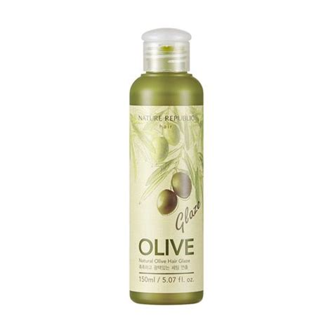 Olive Hair Shoo nature republic natures olive hair glaze 150ml korean