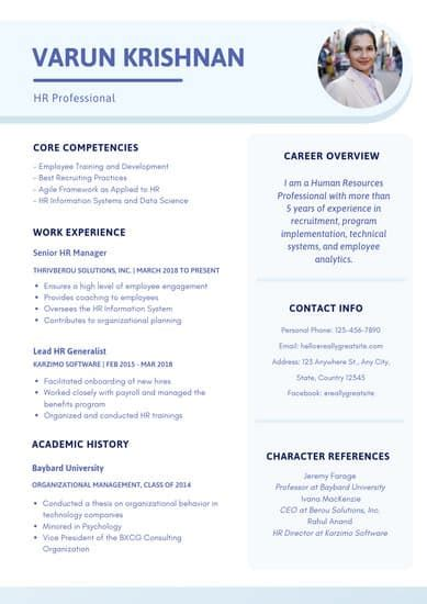 customize  professional resume templates  canva