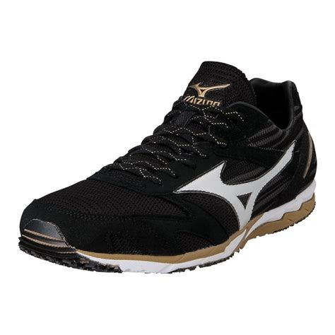 black mizuno running shoes mizuno wave ekiden 8 unisex running shoes black white