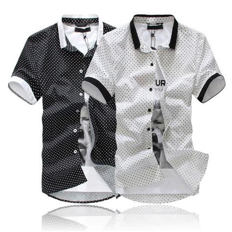 Openwork Sleeve Shirt Black White Size M Xl aliexpress buy new cotton s shirts sleeve polka dot shirts black white size m l