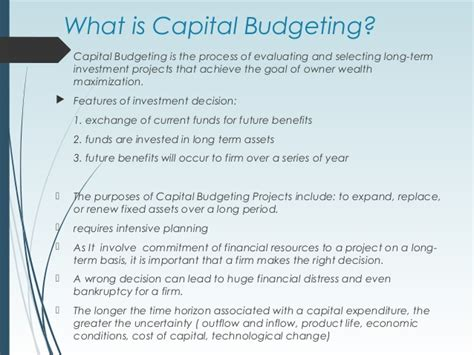 Capital Budgeting Techniques Mba Notes by Investment Decision