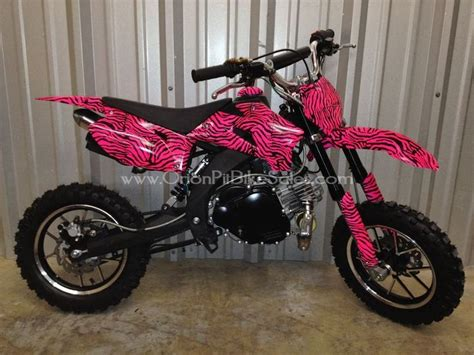 pink motocross bike zebra dirtbike love my 4wheelers pinterest