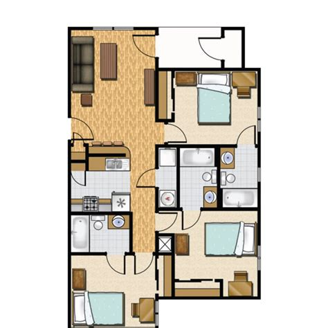 3 bedroom and 3 bathroom apartments 3 bedroom apartment floor plan castlerock at san marcos
