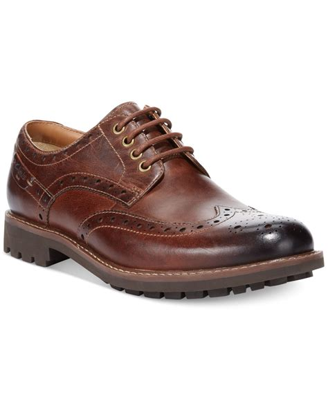 clarks shoes oxford lyst clarks montacute lord wing tip oxfords in brown for