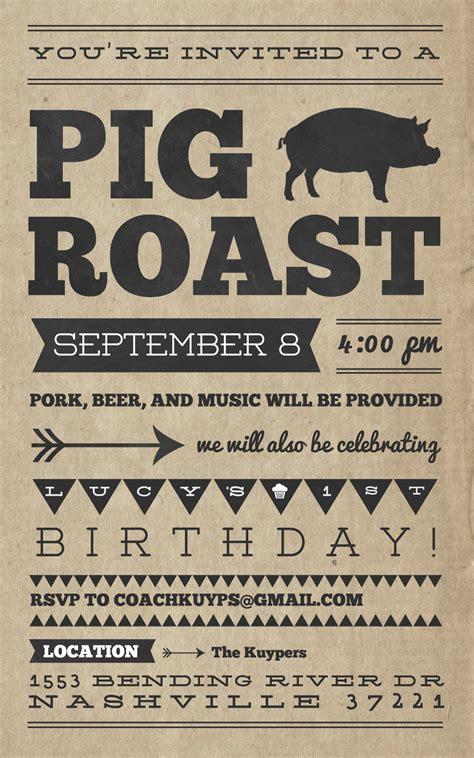 Pig Roast Invitation Templates Cloudinvitation Com Hog Roast Flyer Template