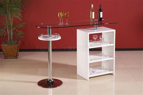 modern glass bar table clear glass top modern bar table w gloss white storage