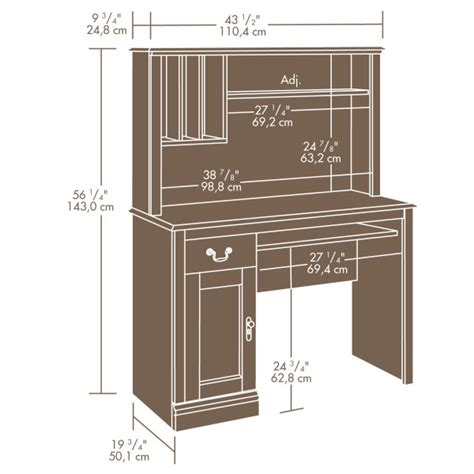 sauder camden county computer desk with hutch sauder 101736 camden county desk with hutch the