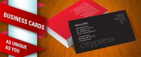 business cards winnipeg business card printing citypress winnipeg printing we treat your colour right