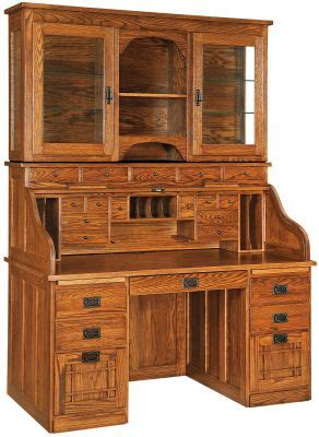 instructors roll top desk  hutch countryside amish