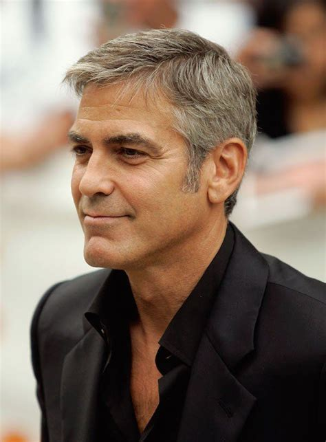 george clooney s hairstyle simple and classy