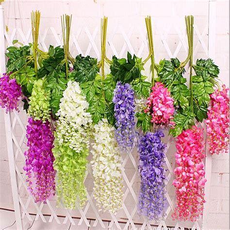 Aliexpress Buy Wedding Decoration 12pcs Lot - 12pcs lot 110cm wisteria artificial silk flowers wedding