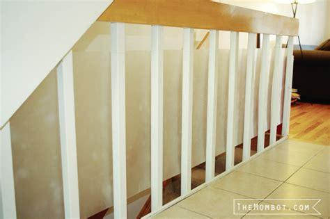 plexiglass railing babyproofing the stair railings with plexiglass the mombot