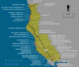 map of california coastline beaches wildernet coast state parks and beaches