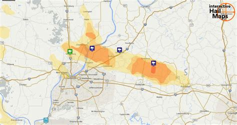 of kentucky interactive map hail map northern suburbs of louisville ky july 24 2012