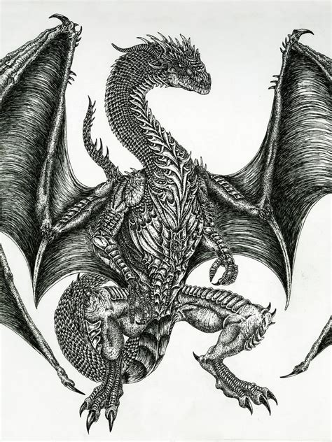 the best drawings of dragons great guardian dragon by wretchedspawn2012 on deviantart