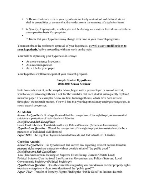 concept essay sle sle hypothesis for research paper 28 images research