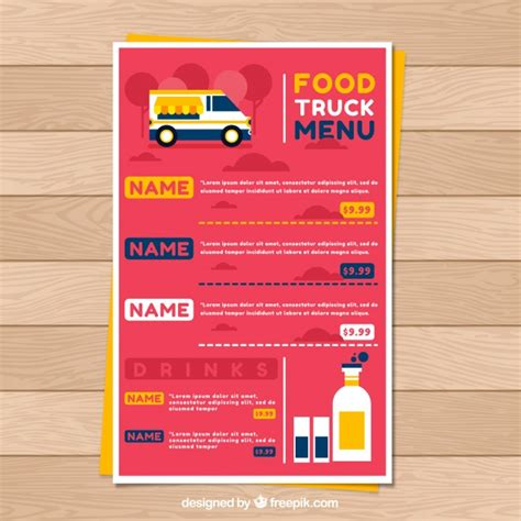 Food Truck Vectors Photos And Psd Files Free Download Food Truck Menu Template