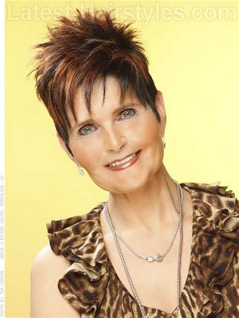 spikey short mature womens hairstyles short spikey hairstyles for older women