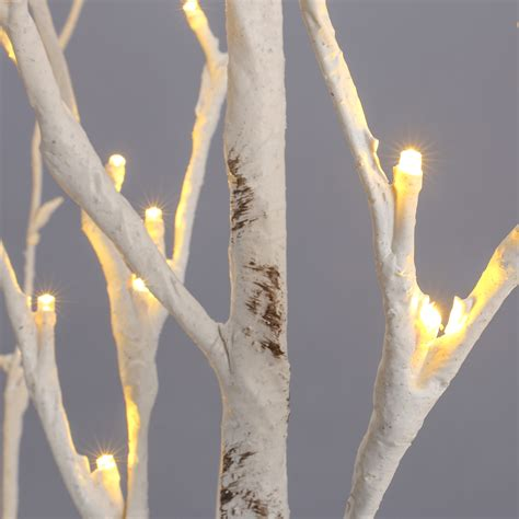 1 5m 5ft 72led silver birch twig tree warm white light