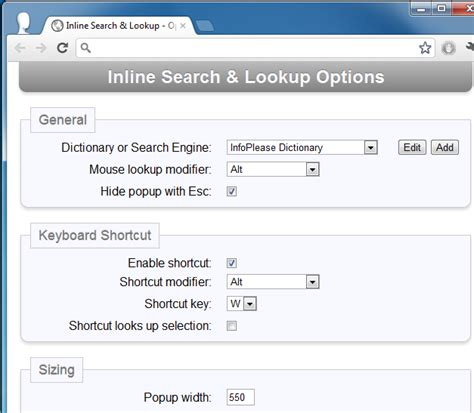 Search Lookup Select Highlight Words To View Definitions Perform Search In Chrome